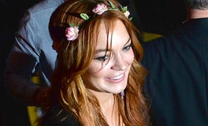 Lindsay Lohan Wardrobe Malfunction Alert: Actress Spills Out of Dress on Liz & Dick Set
