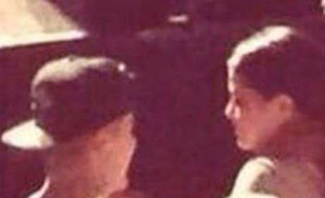 Selena Gomez, Justin Bieber in Church