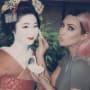 Kim Kardashian and a Geisha