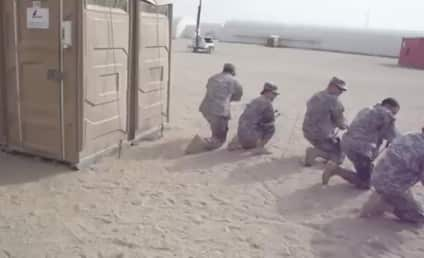 Military Police Practice Tactical Porta-Potty Maneuver