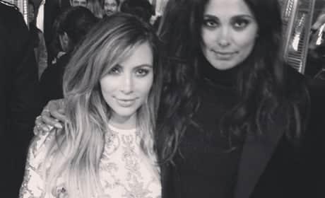 Rachel Roy and Kim Kardashian