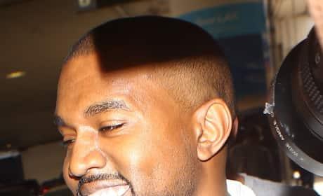 Kanye Smiling!