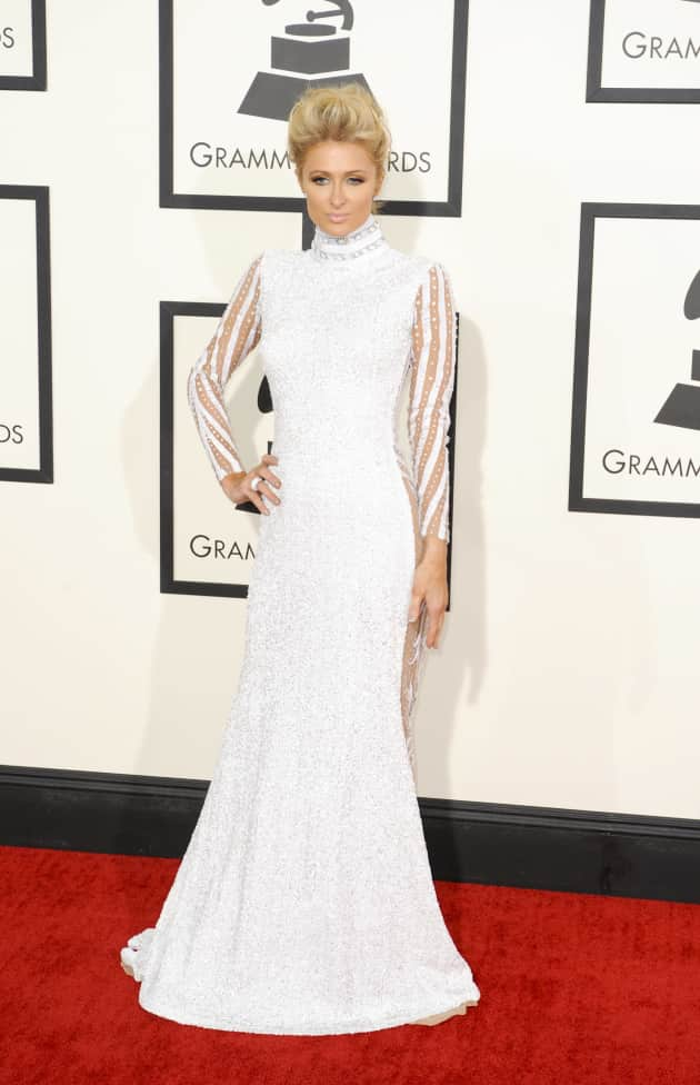 Paris Hilton at the 2014 Grammys