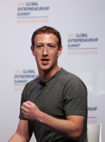Mark Zuckerberg On Stage Photo