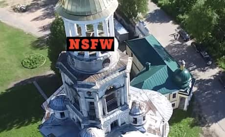 Drone Captures Couple Trying to Have Sex in Church Steeple