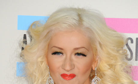 Christina Aguilera on a Red Carpet