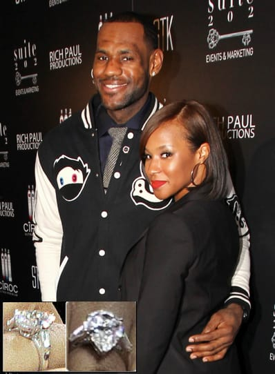 LeBron James Engagement Ring Not Small The Hollywood Gossip