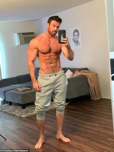 Chad Johnson with No Shirt