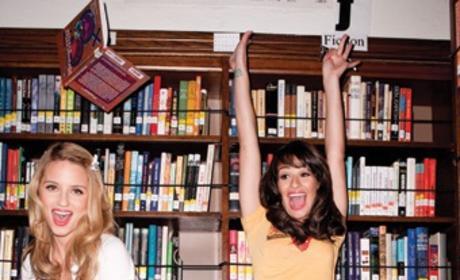 Lea Michele and Dianna Agron