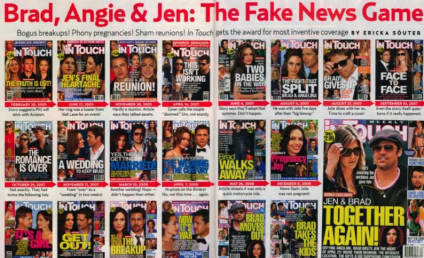 Celebrity Gossip Magazine Ridicules Other Celebrity Gossip Magazine's Brangelina Coverage