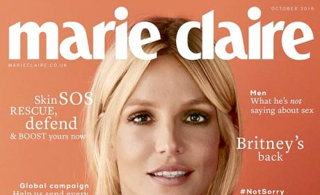 Britney Spears on the Cover of the October Issue of Marie Claire