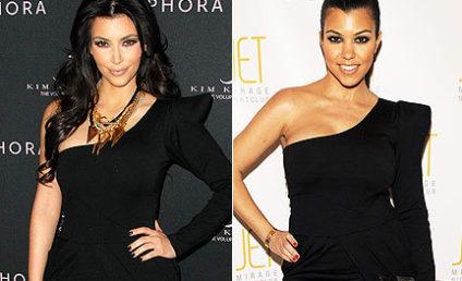 Kim v. Kourtney: Klash of the Similarly-Klad Kardashians