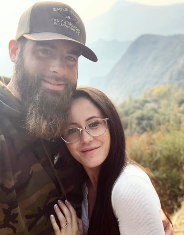 Jenelle and david cuddles