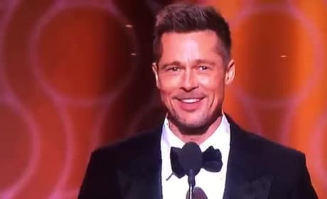 Brad Pitt Receives HUGE Applause at Golden Globes