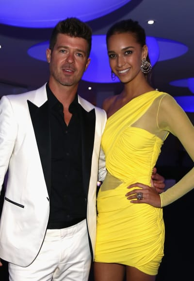 April Love Geary and Robin Thicke Picture