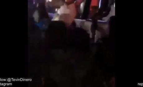 Chris Brown Falls Off Stage!