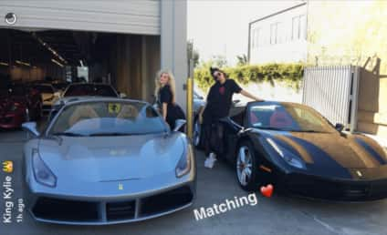 """Kendall Jenner and Kylie Jenner: Look at Our """"Embarrassing"""" Ferraris!"""