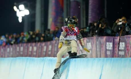 Shaun White Halfpipe Attempt at Olympics