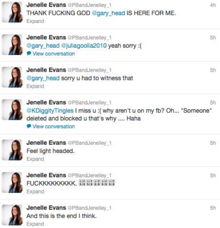 Jenelle Tweeting