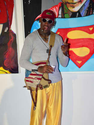 Dennis Rodman Red Carpet Pic
