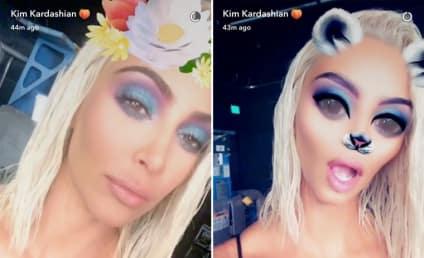 Kim Kardashian Pictures: Boobs! Butt! Blonde Hair!