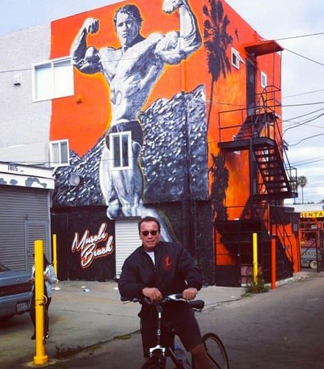 Arnold Schwarzenegger in Venice Beach