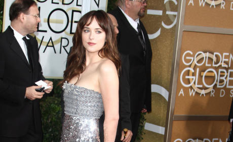 Dakota Johnson at the Golden Globes