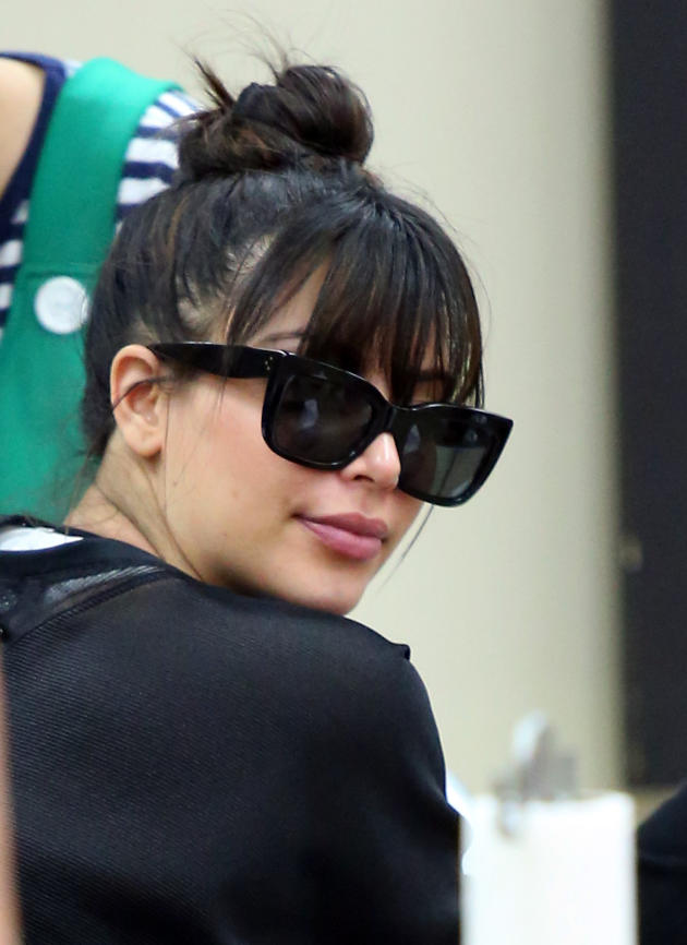Kim Kardashian Goes Dark