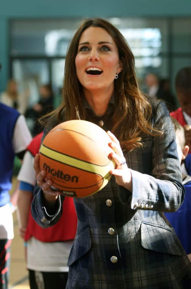 Kate Middleton Playing Basketball