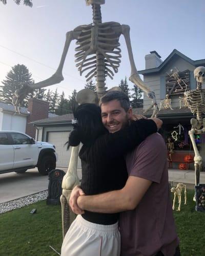 Eric Nichols Hugs Larissa Lima Before a Skeleton Overlord