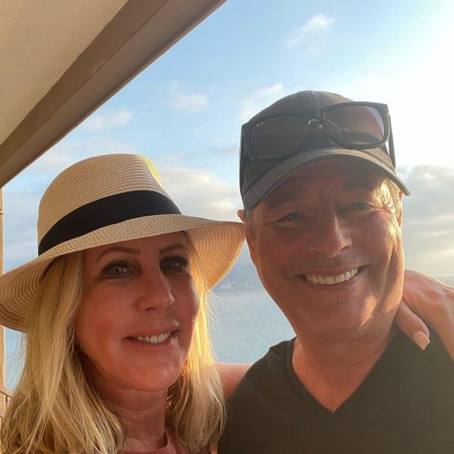 Vicki gunvalson and steve lodge in the sunlight