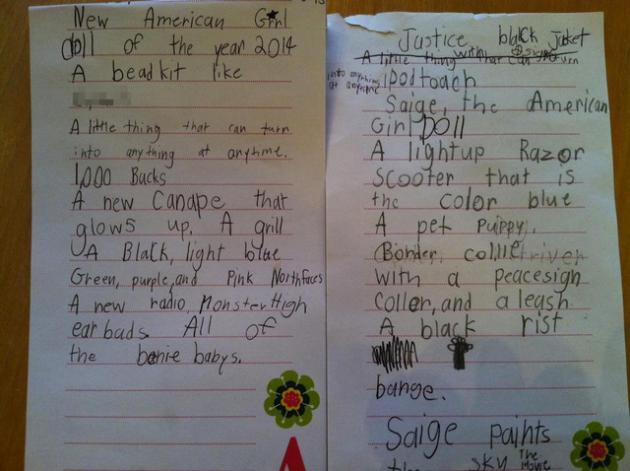 Kid's Insane Christmas Letter