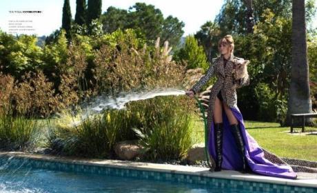 Spraying Her Hose
