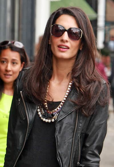 Amal Alamuddin in London