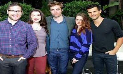 Robert Pattinson, Kristen Stewart and Taylor Lautner Talk Twilight Saga: Breaking Dawn - Part 2