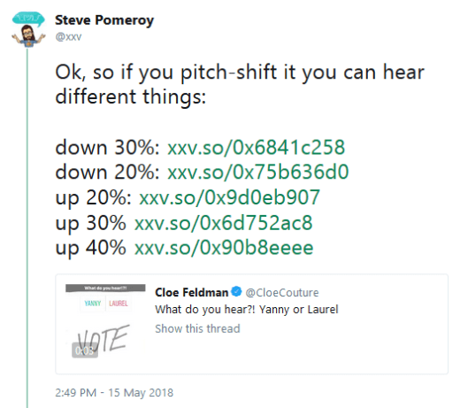yanny v laurel pitch shift