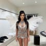 Kourtney Kardashian as a Victoria's Secret Angel