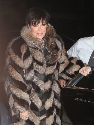 Kris Jenner in Fur