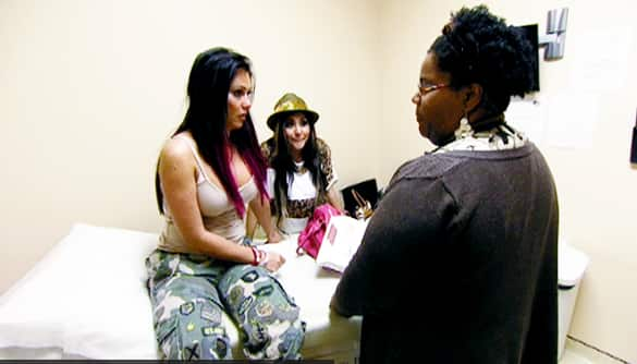 Snooki and JWoww at the Doctor