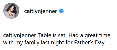 Caitlyn Jenner Father's Day Caption 2018