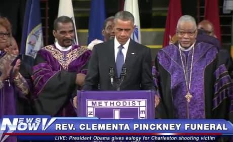 President Obama Sings Amazing Grace Following Clementa Pinckney Eulogy