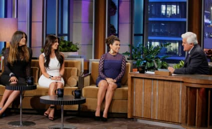 Kim, Khloe and Kourtney Kardashian Talk Nonsense on The Tonight Show