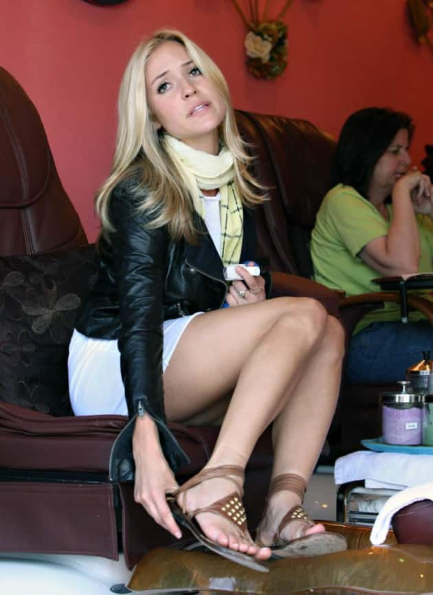 Kristin at the Salon