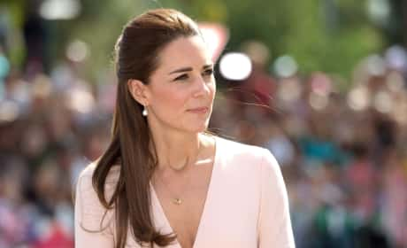 Contemplative Kate Middleton