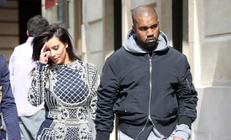 Kanye and Kim in Paris