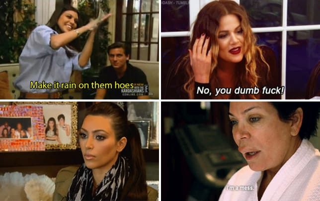 Kourtney kardashian make it rain on them hoes gif