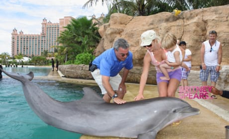 Britney Spears and a Dolphin