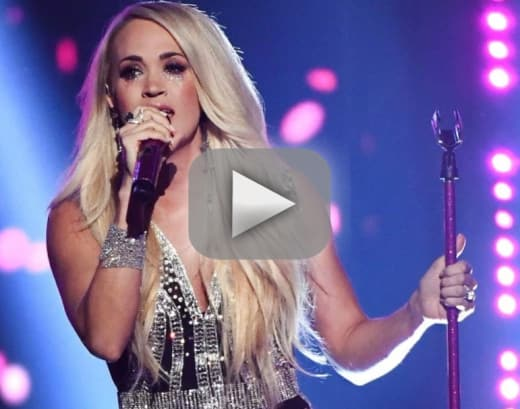 Carrie underwood makes very emotional return to stage at 2018 ac