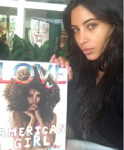Kim Kardashian, No Makeup Pic