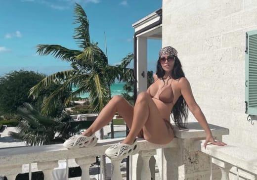 Kim Kardashian In Bikini and Yeezys